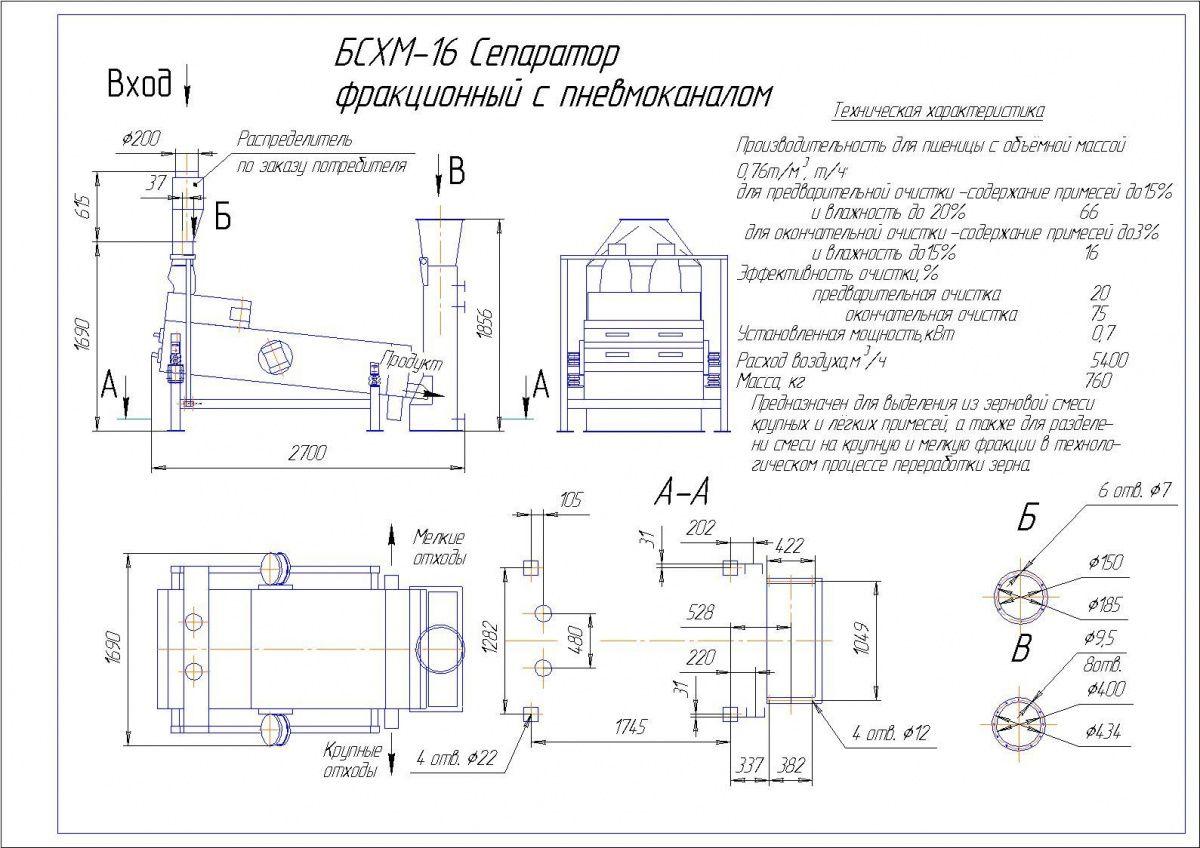 Схема сепаратора бсх 200 30